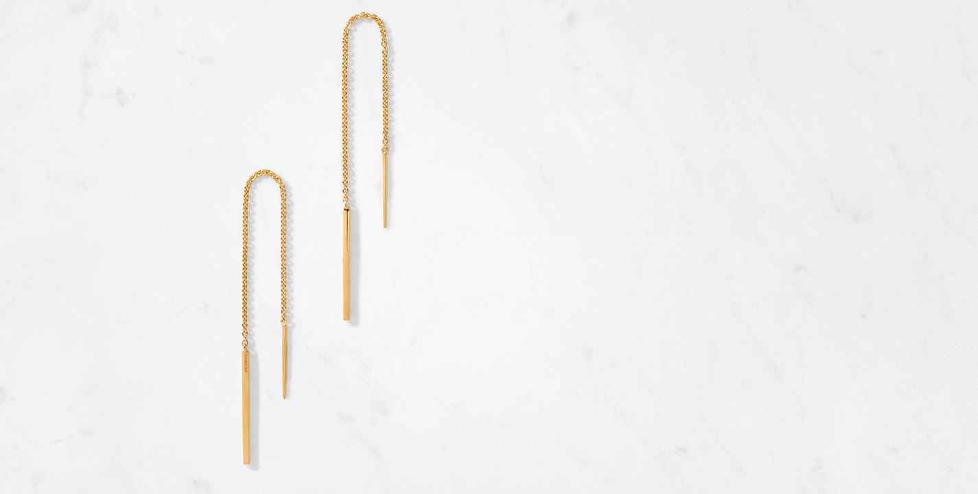 Linear Threader Earring