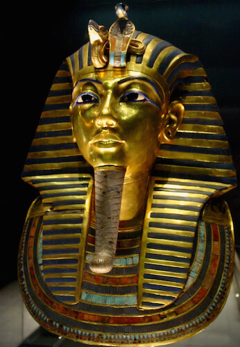 King Tut's infamous gold Death Mask.
