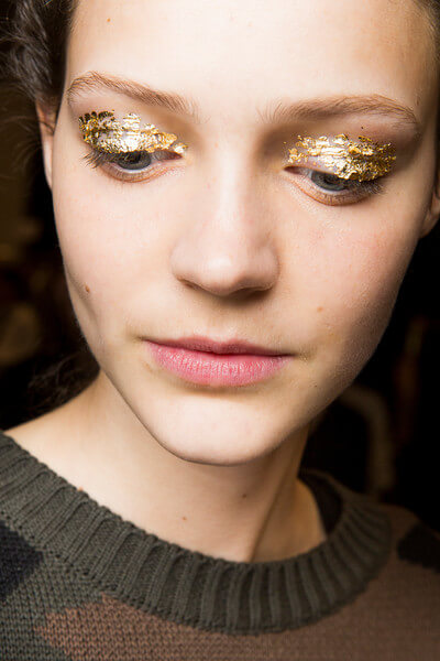 Ulla Johnson's gold leafed lids.